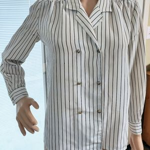Vintage striped button down chemise